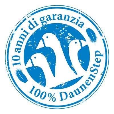 10 anni di garanzia - 100% DAUNENSTEP